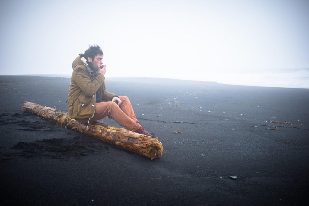 Am einsamen Strand von Vík
